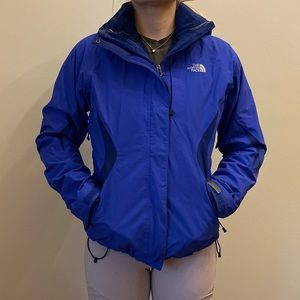 The North Face Two Layer Winter Jacket Blue Small